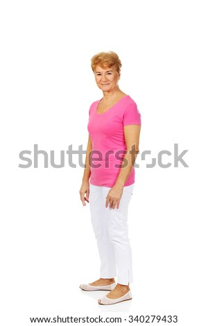 An old smiling charming woman.  - stock photo