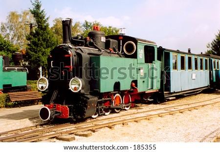 An old steam-train. - stock photo