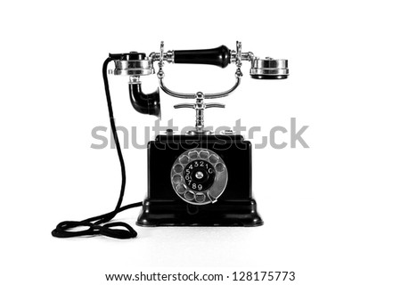 An old swedish telephone of 1920 - stock photo