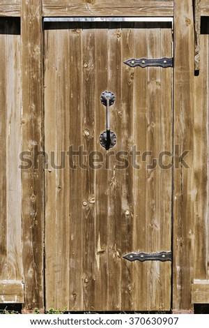 An Old Wooden Door - stock photo