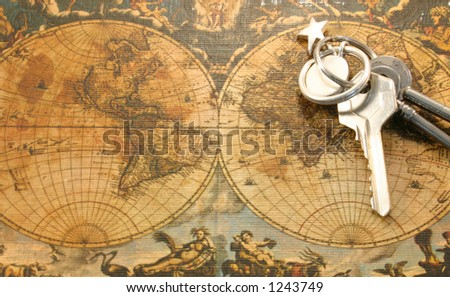 An opened world - stock photo