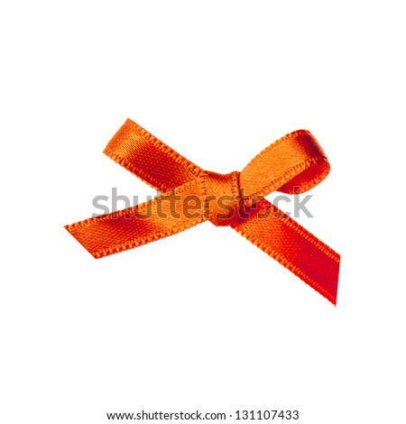 an orange bow, the symbol of the coronation on the 30th of april 2013 - stock photo
