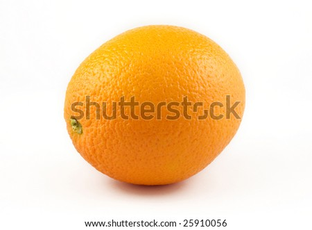 An orange isolated on white background with copy space - stock photo