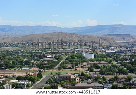 An overview of St George, Utah.  - stock photo