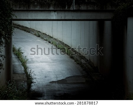 An underpass - stock photo