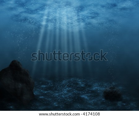 An underwater scene - stock photo