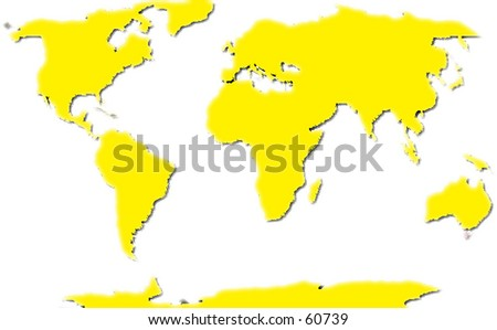 An unfolded globe or map of the world - stock photo