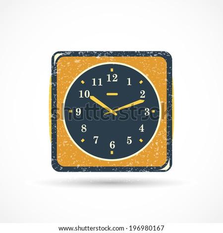 Analog Clock Illustration - stock photo