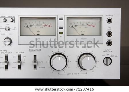 Analog controls dashboard - stock photo