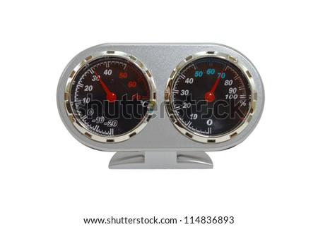 Analog Hygrometer for camera equipment - stock photo