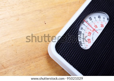 Analog weight scale isolated - stock photo