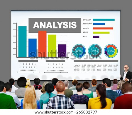 Analysis Analytics Bar graph Chart Data Information Concept - stock photo