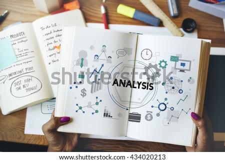 Analysis Analyze Examination Data Information Concept - stock photo