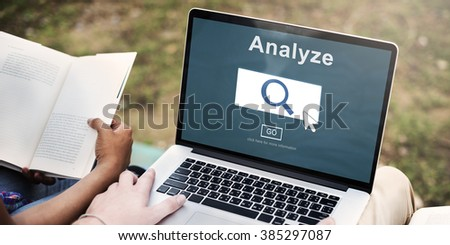 Analysis Information Insight Connect Data Concept - stock photo
