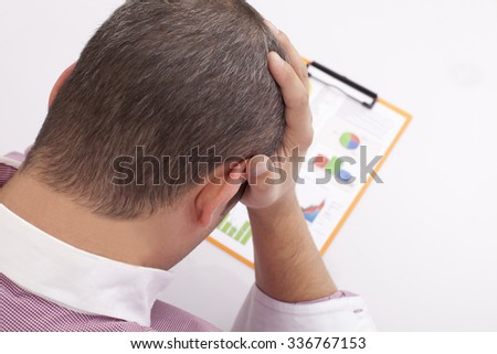 analysis of financial loss - stock photo