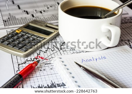 Analysis of the stock market - stock photo