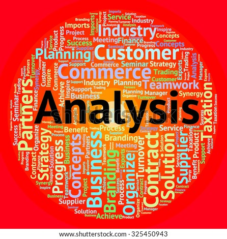 Analysis Word Indicating Data Analytics And Research - stock photo