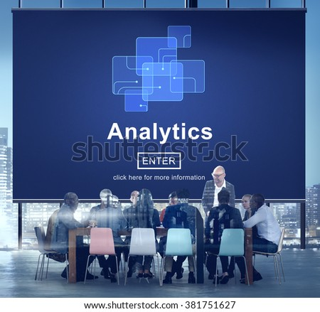 Analytics Analysis Data Information Research Concept - stock photo