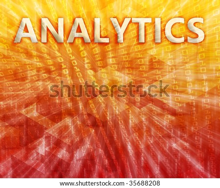 Analytics Business intellegence abstract, computer technology concept illustration - stock photo