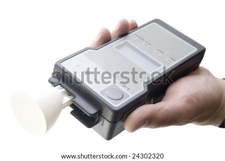 analyzer of alcohol - stock photo