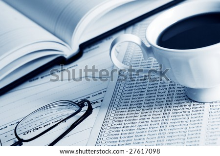 Analyzing of the financial information. - stock photo