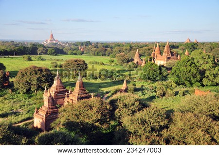 Ananda Temple and other temples in Bagan, Myanmar  - stock photo