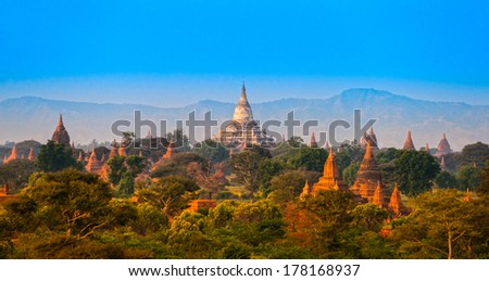 Ananda temple in Bagan, Myanmar. - stock photo