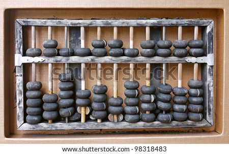 ancient abacus - stock photo