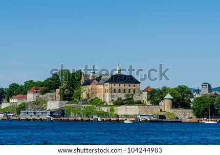 Ancient Akershus Fortress, Oslo, Norway - stock photo