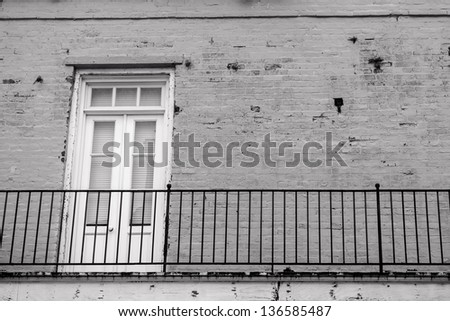 Ancient architecture in the French Quarter of New Orleans - stock photo