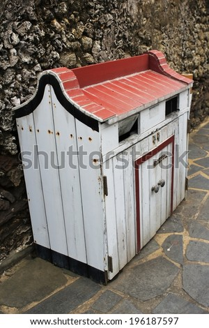 ancient bin in Taiwan - stock photo