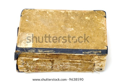 ancient book - stock photo