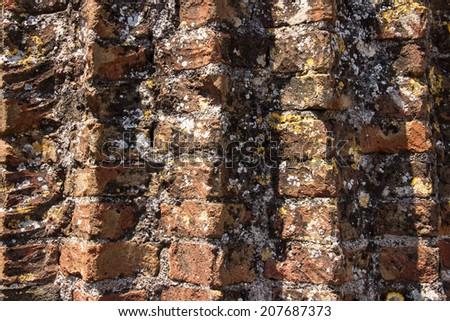 Ancient Brick Circle Wall - stock photo