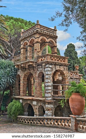 Ancient building in Sicily. The Views of  Sicily, Italy - stock photo