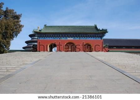 Ancient building in Temple of Heaven,Beijing - stock photo