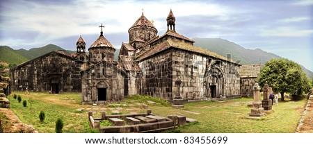 Ancient Christian Monastery / Church in Armenia - Haghpat Monastery - stock photo