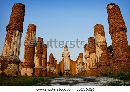 ancient city,Ayutthaya Thailand - stock photo