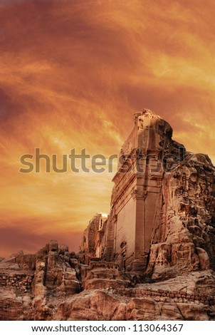 Ancient city of Petra, Jordan - stock photo