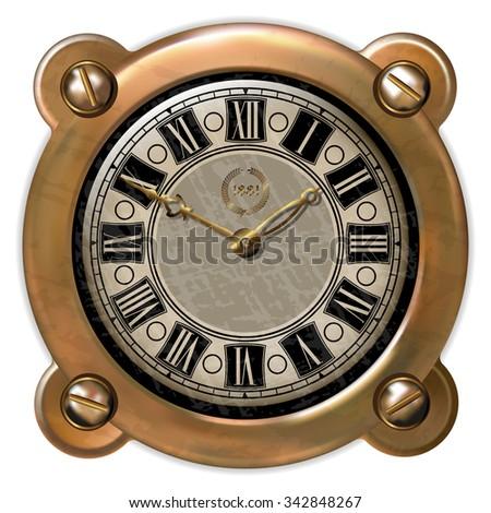 Ancient clock  - stock photo