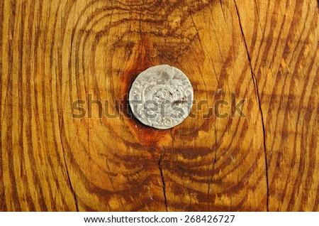 ancient coin Poland 1625 - stock photo