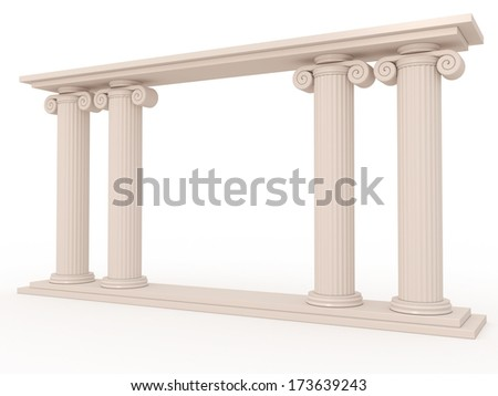 Ancient columns of marble 3 - stock photo