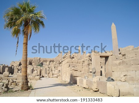 ancient egypt ruins, Luxor - stock photo