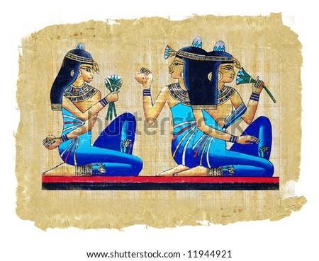 ancient egyptian papyrus - stock photo