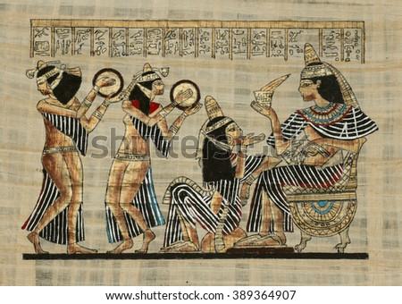 ancient Egyptian parchment - stock photo