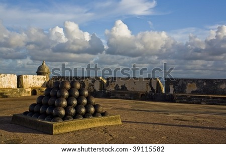 ancient fort - stock photo