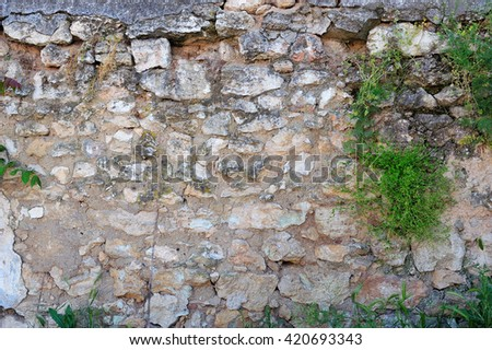 ancient fortress wall - stock photo
