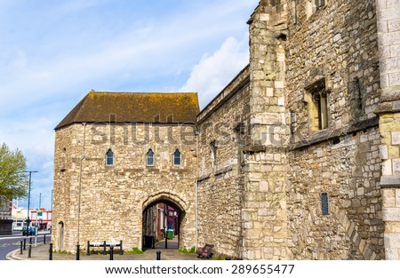 Ancient gate in Southampton - Hampshire, England - stock photo