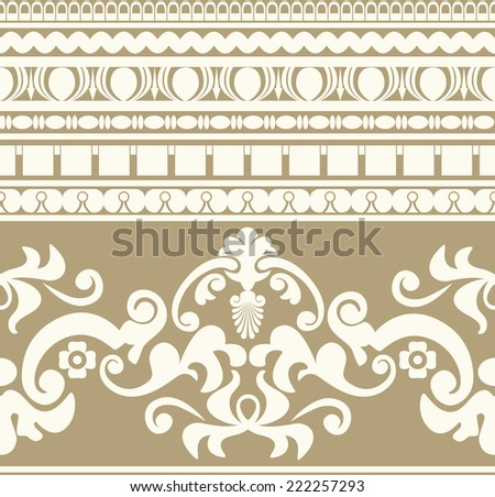 Ancient Greece ornament seamless pattern - stock photo