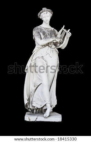 Ancient greek statue showing a mythical muse - stock photo