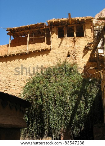 Ancient house at st catherines monastery, egypt - stock photo